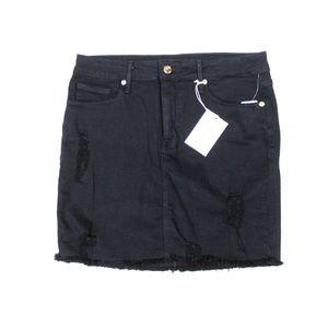 Good American The Mini Skirt Raw Distress